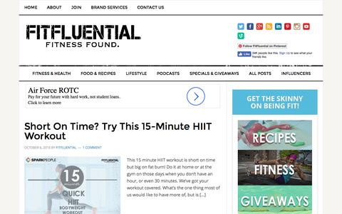 Workouts Archives - FitFluential