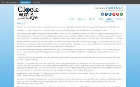 Screenshot of About Page clockworkeye.co.uk - About - Clockwork Eye - captured Nov. 2, 2014