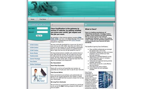 Screenshot of Home Page cisco-certification.co.uk - Cisco Certification UK, CCNA, CCDA, CCNP Training - captured Oct. 13, 2015