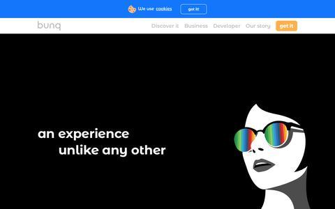 Screenshot of Home Page bunq.com - bunq   bunq not bank - captured March 24, 2018