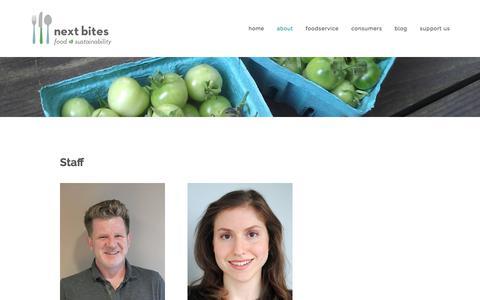 Screenshot of Team Page nextbites.org - Our Team — Next Bites - captured Jan. 16, 2018