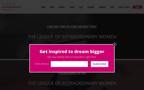Screenshot of Blog leagueofextraordinarywomen.com.au - Blog | League of Extraordinary Women - captured Dec. 8, 2015