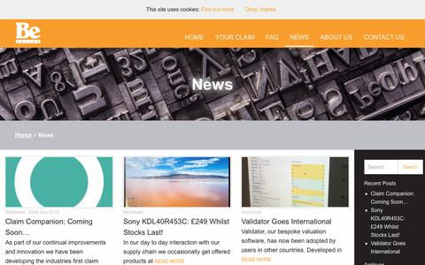 Screenshot of Press Page bevalued.co.uk - News - BeValued - captured Sept. 29, 2018