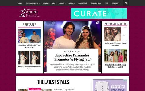 Screenshot of Home Page zeenatstyle.com - Zeenat Style - captured Aug. 17, 2016