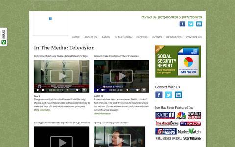 Screenshot of Press Page securedretirements.com - Television   Secured Retirement Advisors, LLC - captured Nov. 3, 2014