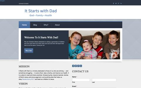Screenshot of Home Page itstartswithdad.com - It Starts with Dad - God. Family. Health. - captured Sept. 30, 2014