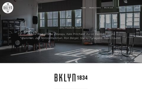 Screenshot of Team Page bklyn1834.com - Team - BKLYN1834 - captured Sept. 30, 2014