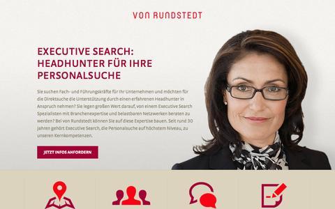 Screenshot of Landing Page rundstedt.de - TalentSearch·von Rundstedt - captured Oct. 27, 2014