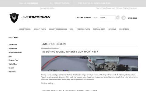 Screenshot of Press Page jagprecision.com - JAG Precision Jag Precision Airsoft Wholesale - captured June 8, 2017