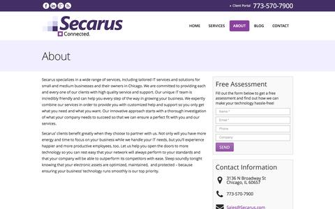 Screenshot of About Page secarus.com - About   Secarus - captured Feb. 4, 2016