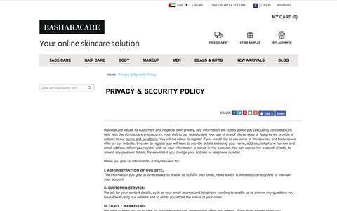 Privacy & Security Policy
