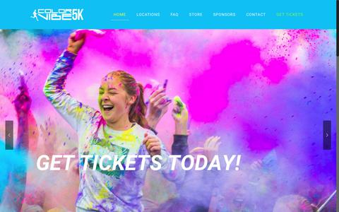 Screenshot of Home Page Locations Page thecolorvibe.com - Color Vibe - captured June 21, 2017
