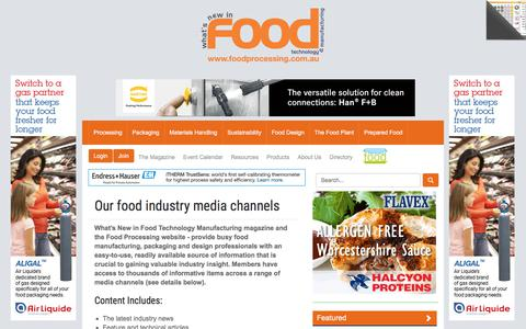 Screenshot of About Page foodprocessing.com.au - About us :: FoodProcessing - captured Aug. 19, 2018