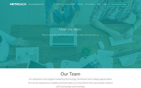 Screenshot of Team Page neoreach.com - Our Team - NeoReach | Influencer Marketing Platform - captured Oct. 18, 2018