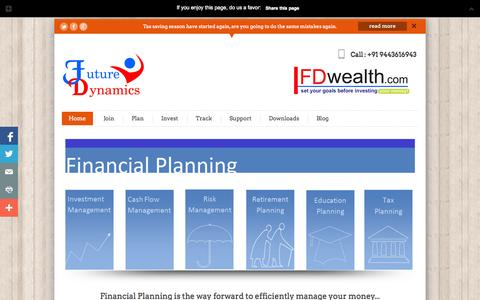 Screenshot of Home Page fdwealth.com - Financial Planning, Mutual Funds, Fixed Deposits, Gold, Tax Savings - captured Oct. 5, 2014