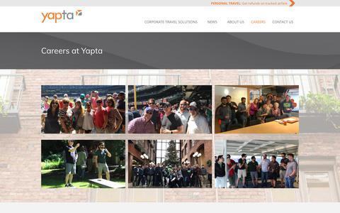 Screenshot of Jobs Page yapta.com - Careers at Yapta - Yapta, Inc. - captured July 13, 2018