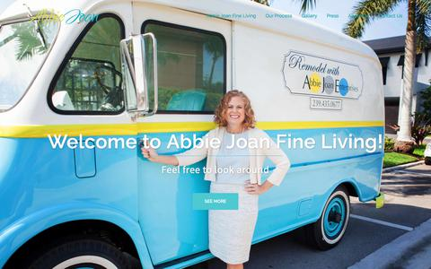 Screenshot of Home Page abbiejoan.com - Abbie Joan Fine Living - Abbie Joan - captured Oct. 7, 2017