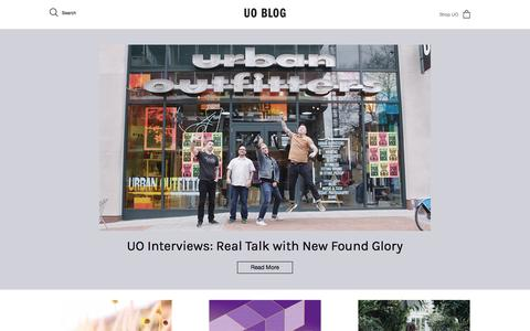 Screenshot of Blog urbanoutfitters.com - Urban Outfitters - Blog - captured April 28, 2017