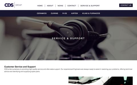 Screenshot of Support Page cds-group.co.uk - Service & Support - CDS - captured July 14, 2018
