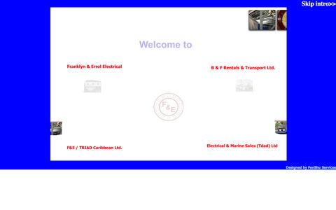 Screenshot of Home Page fe-electrical.com - ...:: Franklyn & Errol Group of Companies ::... - captured Oct. 6, 2014