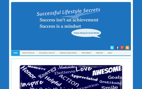 Screenshot of Home Page successful-lifestyle-secrets.ca - Successful Lifestyle Secrets | Personal Development Resources for a successful life - captured June 30, 2018