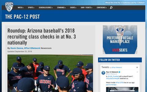 Screenshot of Blog pac-12.com - The Pac-12 Post | Pac-12 - captured Sept. 26, 2018