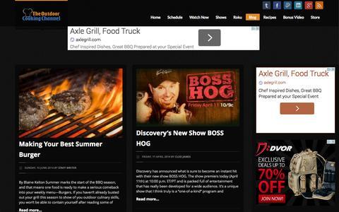Screenshot of Blog outdoorcookingchannel.com - Outdoor Cooking Channel | Blog - captured Oct. 9, 2014