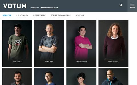 Screenshot of Team Page votum.de - Team - votum.de - captured Sept. 25, 2014