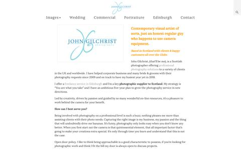 Screenshot of About Page johngilchrist.com - John Gilchrist   About - captured Oct. 14, 2018