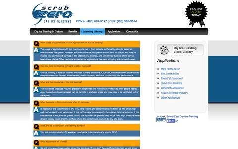 Screenshot of FAQ Page scrubzero.com - ScrubZero - Frequently Asked Questions - captured Oct. 4, 2014