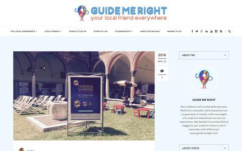 Screenshot of Blog guidemeright.com - Guide Me Right | Your local friend everywhere - captured July 19, 2016