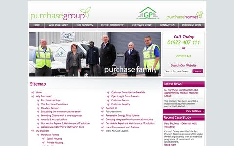 Screenshot of Site Map Page purchasegroup.co.uk - Sitemap - GP Construction Ltd - captured Oct. 3, 2014