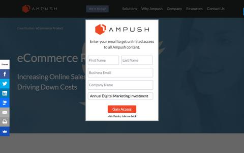 Screenshot of Case Studies Page ampush.com - E-Commerce Twitter Case Study | User Acquisition - captured June 23, 2018