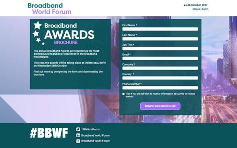 Screenshot of Landing Page knect365.com - Broadband Awards Brochure - captured Oct. 29, 2017