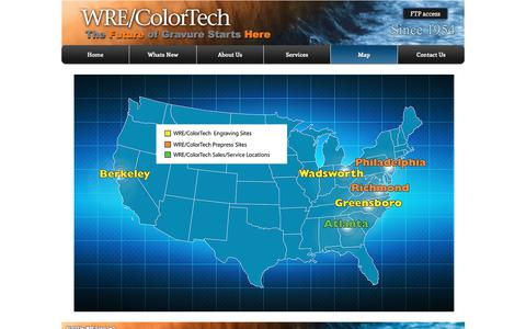 Screenshot of Maps & Directions Page wrecolor.com - WRE/ColorTech gravure cylinders | Map - captured Oct. 22, 2017
