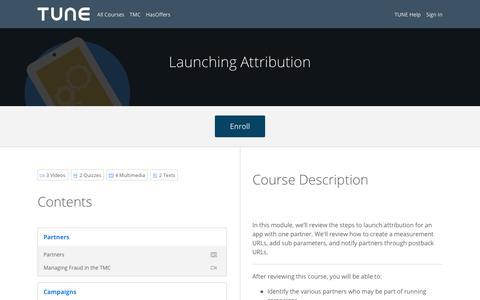 Launching Attribution