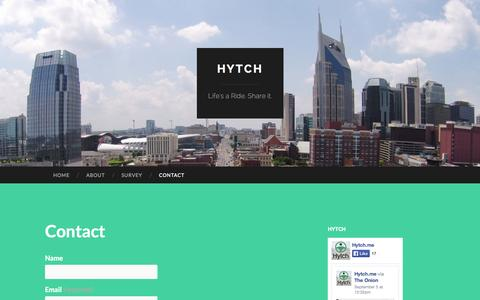 Screenshot of Contact Page hytch.me - Contact | Hytch - captured Sept. 30, 2014