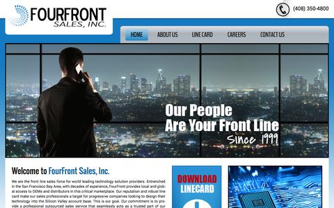 Screenshot of Home Page fourfrontsales.com - Fourfront | sales, inc. - captured Sept. 30, 2014