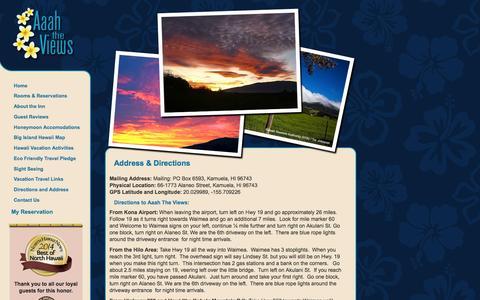 Screenshot of Maps & Directions Page aaahtheviews.com - Address & Directions    Aaah The Views Inn, Waimea - Kamuela Hawaii - captured Feb. 5, 2016