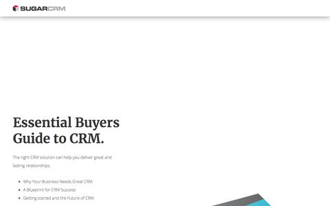 Screenshot of Landing Page sugarcrm.com - The Essential Buyers Guide to Salesforce CRM - captured July 29, 2019