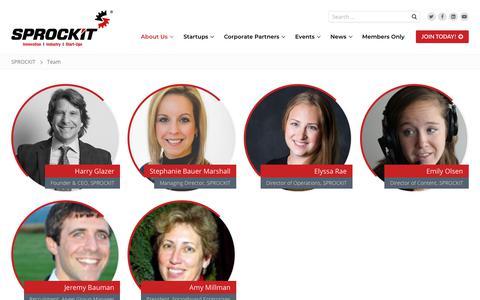 Screenshot of Team Page sprockitglory.com - Team – SPROCKIT - captured Oct. 1, 2018
