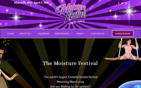 Screenshot of Home Page moisturefestival.org - HOME - Moisture Festival - captured Sept. 24, 2018