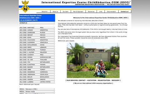 Screenshot of Home Page Privacy Page childabduction.com - International Expertise Center Childabduction.COM (IECC) - captured Oct. 6, 2014