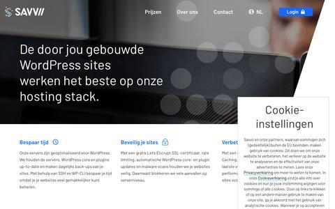 Screenshot of Developers Page savvii.com - WordPress hosting voor developers: een snelle en veilige hosting stack. - captured Sept. 22, 2018