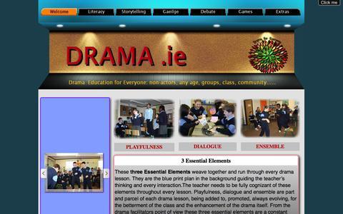 Screenshot of Home Page drama.ie - Drama - captured Oct. 2, 2014