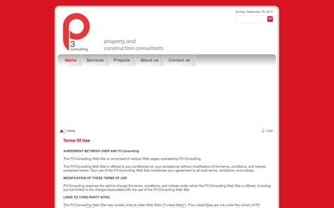 Screenshot of Terms Page p3-consulting.co.uk - P3 Consulting > Home - captured Sept. 30, 2014