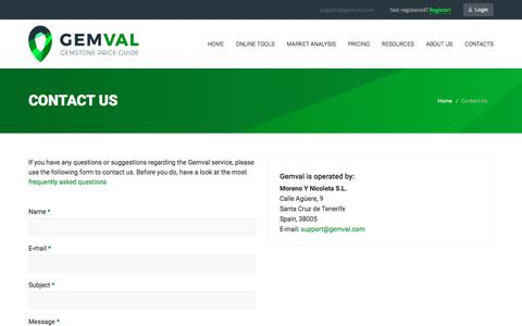 Screenshot of Contact Page gemval.com - Contact Us | Get Connected With Gemval.com - Contact Now - captured Sept. 23, 2018