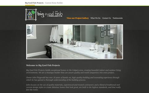 Screenshot of Home Page bigeyedfish.ca - Big Eyed Fish - captured Oct. 5, 2014