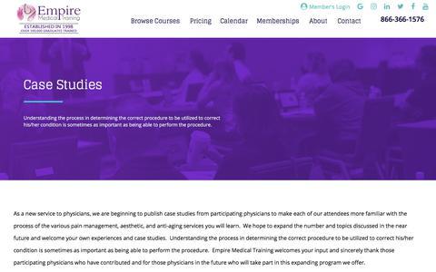 Case Studies   Empire Medical Training