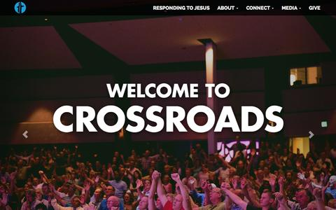 Screenshot of Home Page crossroadschurch.net - Crossroads Church | Vancouver, WA - captured Aug. 29, 2015